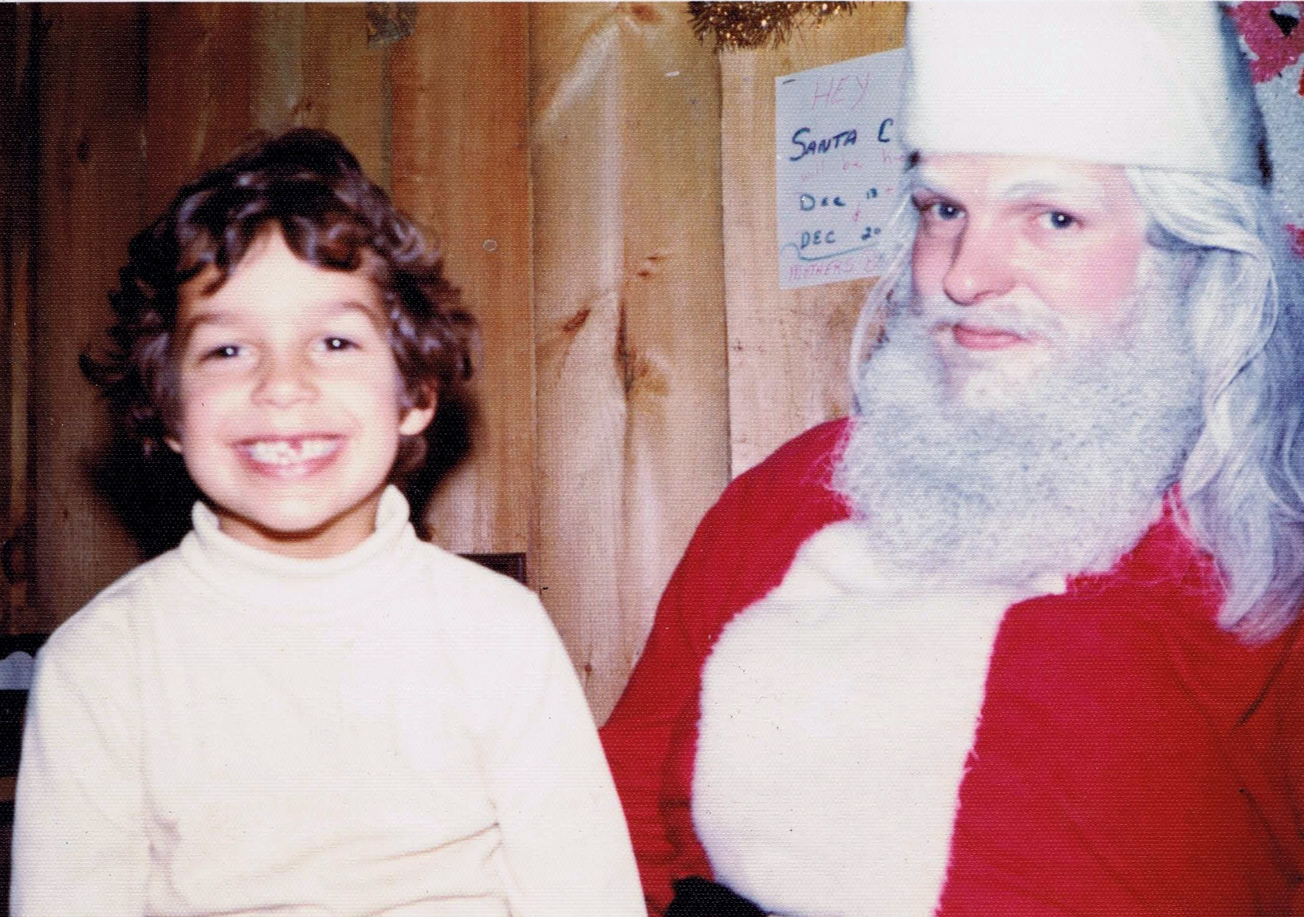 Brian and Santa at Firehouse Pizza in Newport