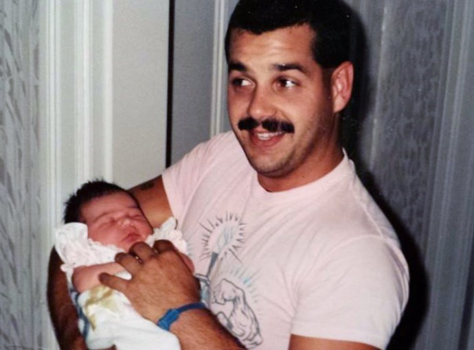 Brian and baby Amber, June 1991
